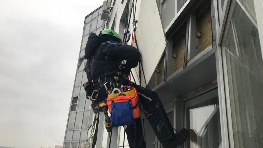 """Устранение причин попадания воды в квартиру через устройство фасада в ЖК """"Акварель""""."""